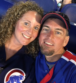 """Jupiter High School teachers and Cubs fans Ericka Muncy and Andrew Mook attended the Miami Marlins vs. Chicago Cubs game at Marlins Park this summer, they rooted for the """"lovable losers"""" all nine innings long."""