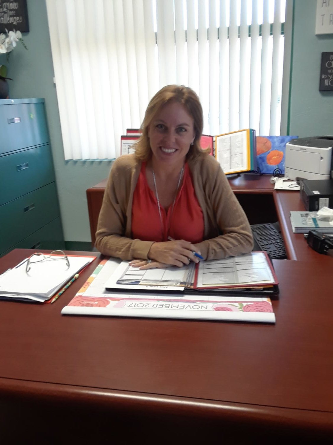 New assistant principal, Diana Fernandez sits in her new office in student services. Photo by Kayla Grudinsky