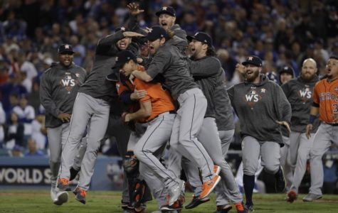 Houston Astros leave the Dodgers Stadium victorious after their first ever World Series championship title