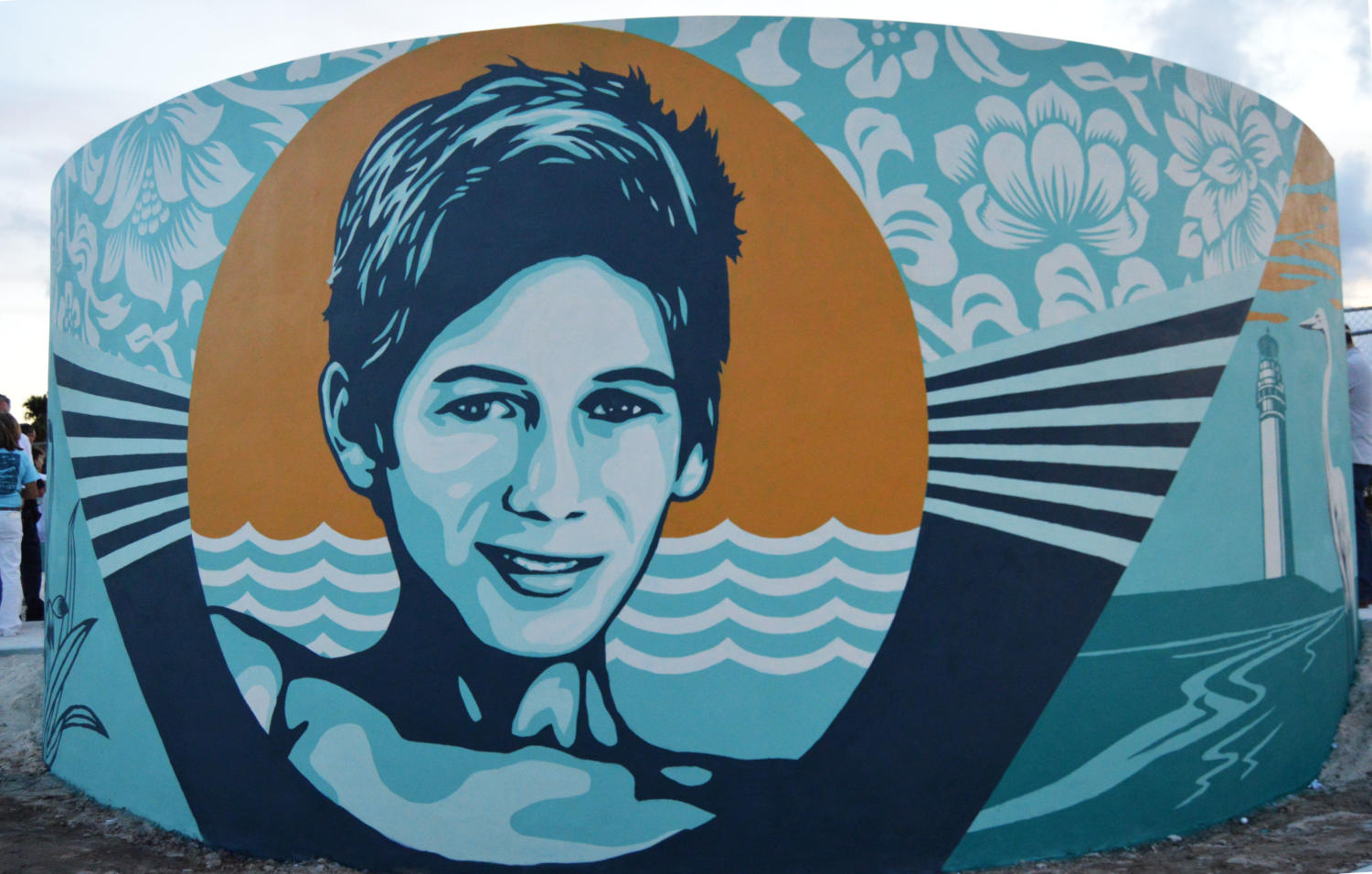 Shepard Fairey's mural of Perry Cohen.