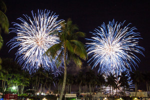 Fireworks display from SunFest 2017.