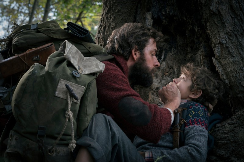 Scene+from+movie+%E2%80%9CA+Quiet+Place%E2%80%9D+with+John+Krasinski%2C+and+Noah+Jupe.+