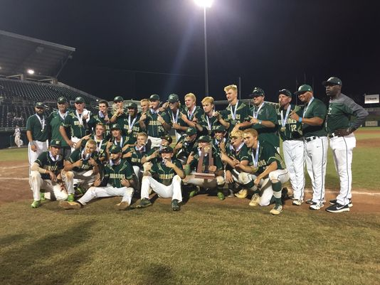 Jupiter High's baseball team celebrates after winning the 9A FHSAA baseball state championship in Ft. Myers, Fla. They were honored in the Parade of Champions in Jupiter on Aug. 12.