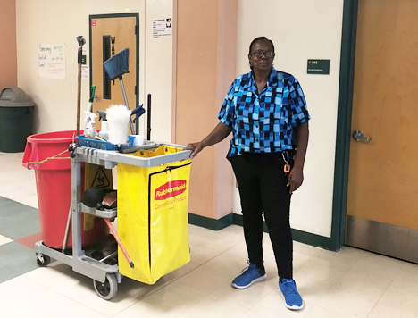 Jupiter High students help custodial staff