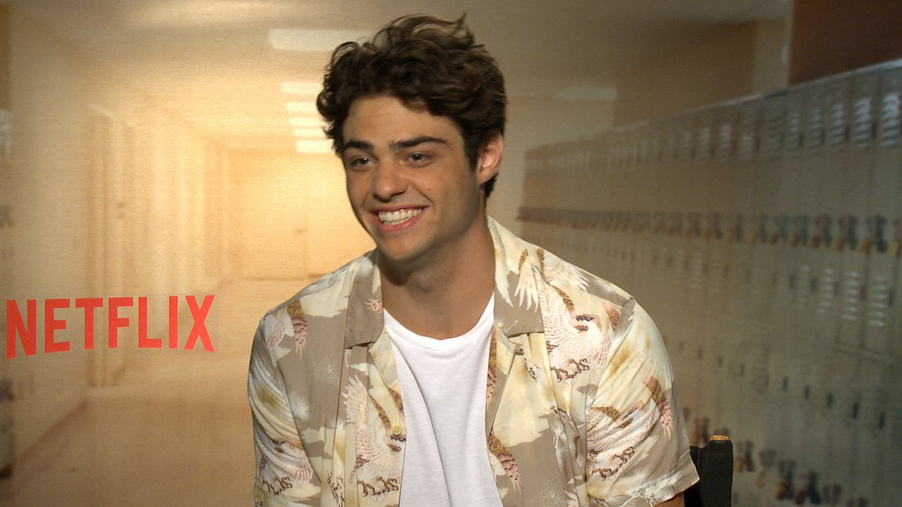 Actor Noah Centineo during a Netflix interview talking about his films