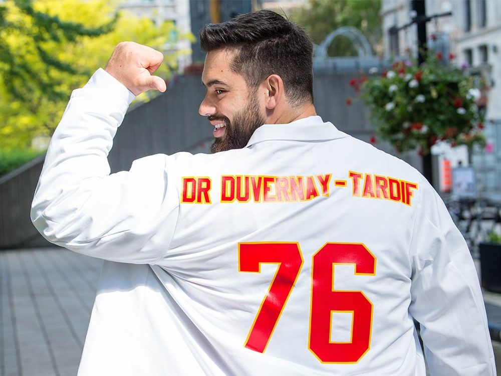 Duvernay-Tardif on his graduation day from McGill University