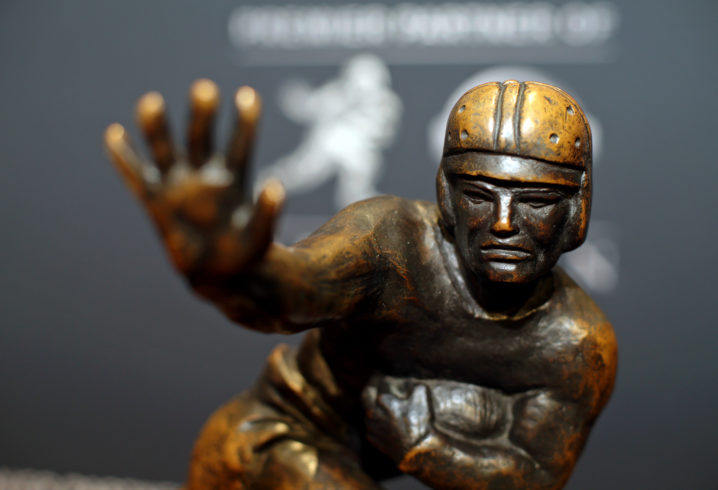 The Heisman Trophy is rewarded to the best player in college football annually.