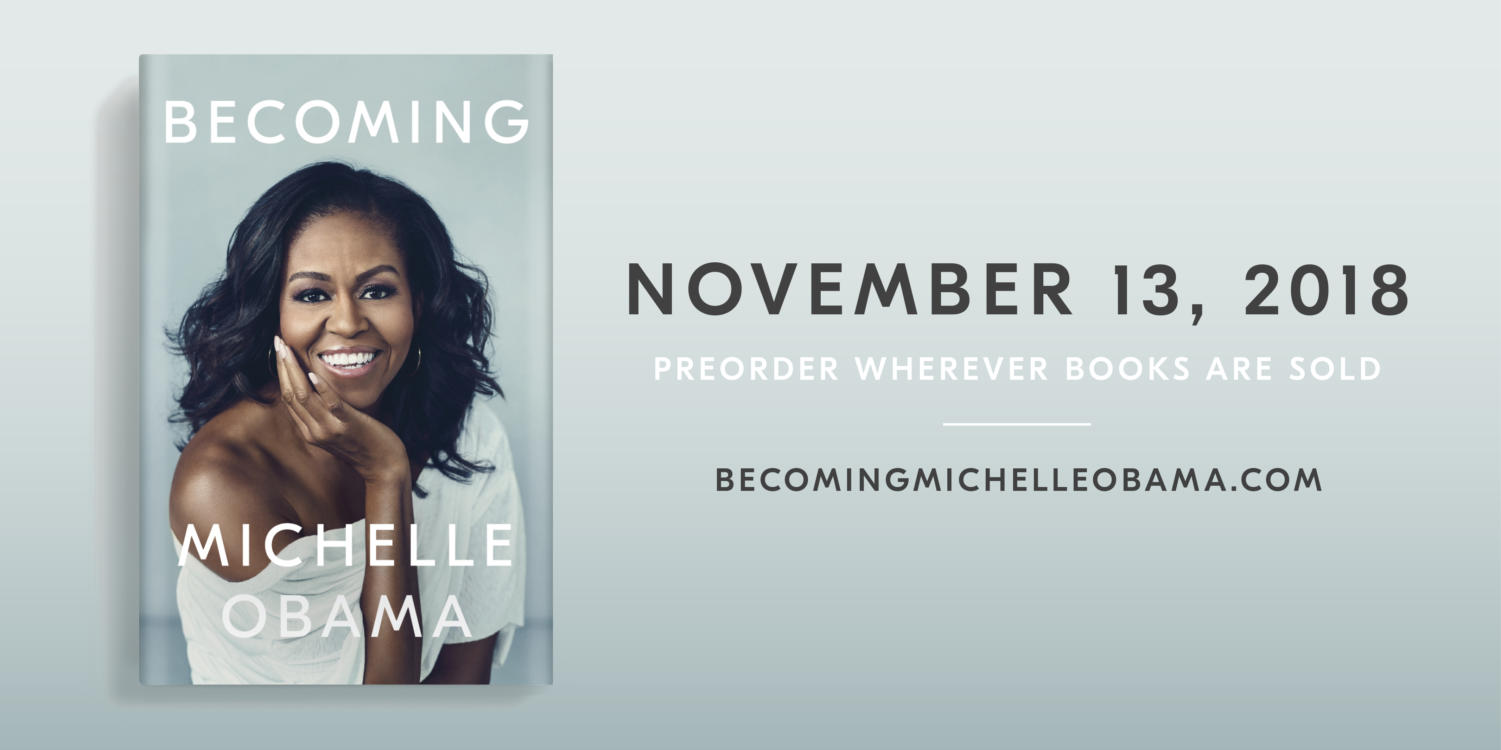 "The cover of best-selling book ""Becoming"" by former First Lady Michelle Obama."