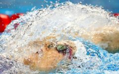Missy Franklin dives off the block for the last time