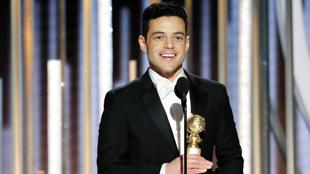 76th ANNUAL GOLDEN GLOBE AWARDS -- Pictured: Rami Malek, winner of Best Actor - Motion Picture, Drama at the 76th Annual Golden Globe Awards held at the Beverly Hilton Hotel on January 6, 2019 -- (Photo by: Paul Drinkwater/NBC)