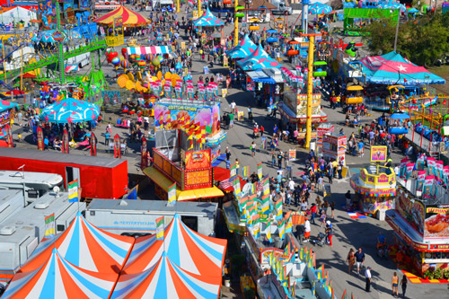 From Jan. 18 to Feb. 3, the South Fla. Fair will take place at the South Fla. Fairgrounds in West Palm Beach, including rides for kids of all ages.
