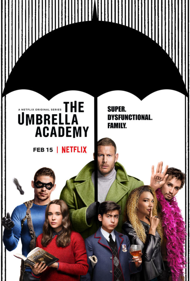 Official+promotional+poster+for+Netflix%27s+new+series+%22The+Umbrella+Academy.%22