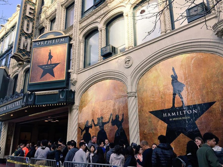 A+performance+of+Hamilton+at+the+Orpheum+Theatre+in+San+Francisco