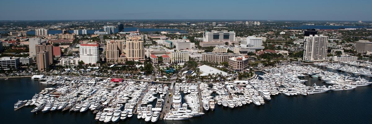 Boats and yachts line up for the 34th annual Boat show.
