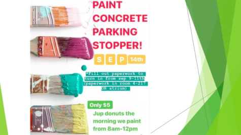 Jupiter High students to paint their parking stoppers