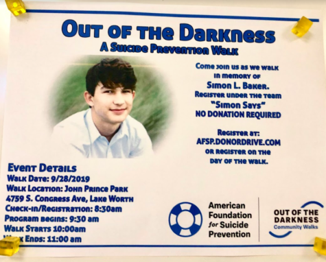 The Out of the Darkness: Suicide Prevention Walk on Sept. 28