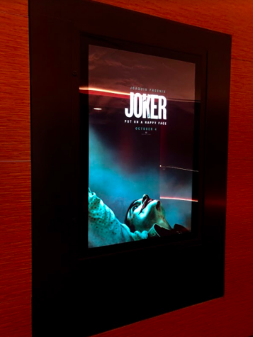 "Movie poster for ""Joker"" at the Cinepolis movie theater in Jupiter, Fla."