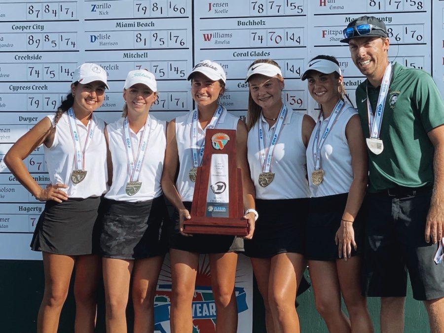 Girls golf wins states