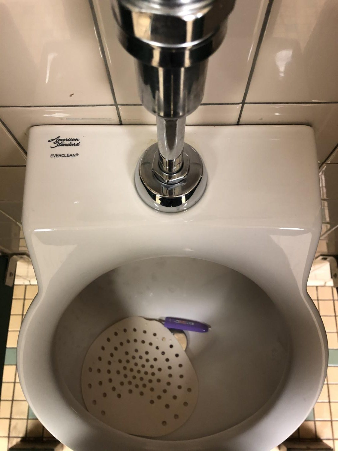 Vaping product found in urinal in lower 4000 wing boys bathroom.