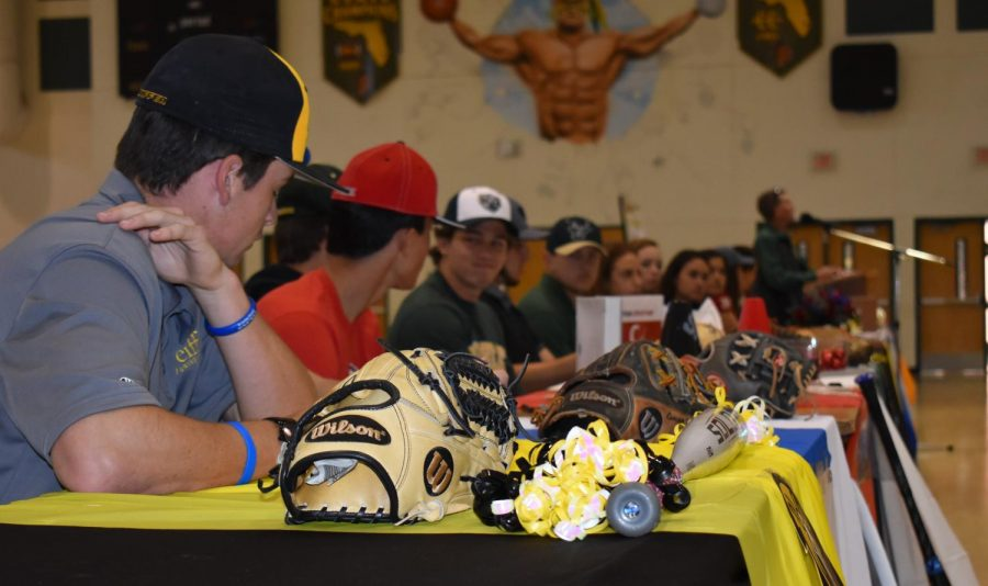 Jupiter High senior athletes sign for their futures