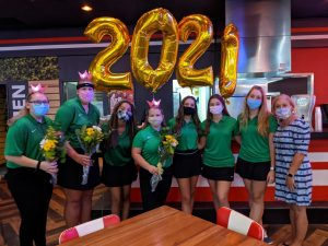 Jupiter High bowlers celebrate senior night at Bowlero in Jupiter.
