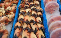 Stone crabs on sale at Pinders Seafood and Marketplace in Tequesta.