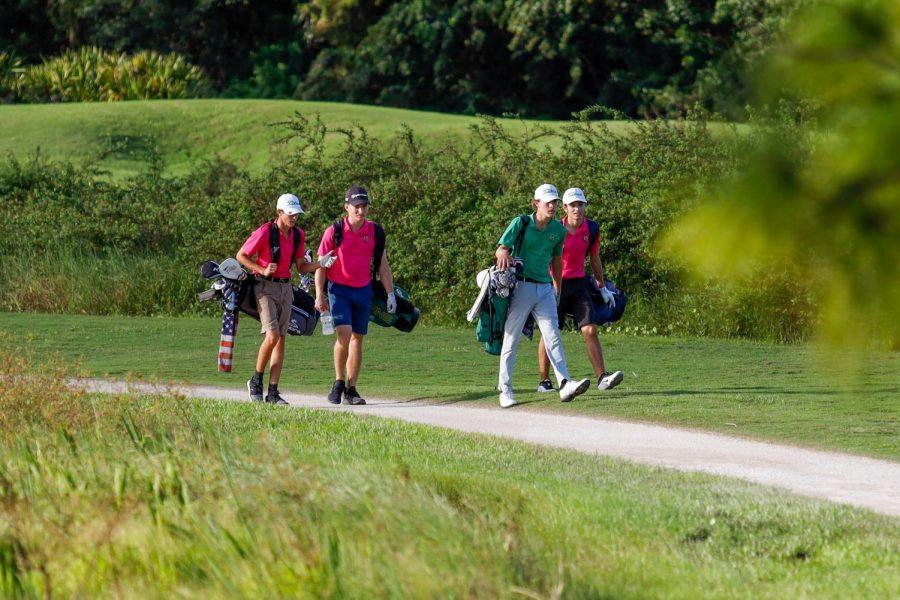Members of Jupiter's boys golf team compete at Old Trail in Jupiter.