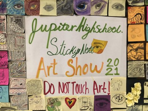 National Art Honor Society hosts a sticky-note art show