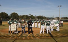 Taylor Davis's jersey retired in ceremony at Doug Ferguson Field.