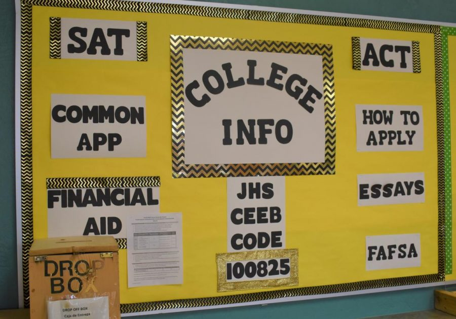 College+information+bulletin+board+in+the+guidance+office+at+Jupiter+High+School.+